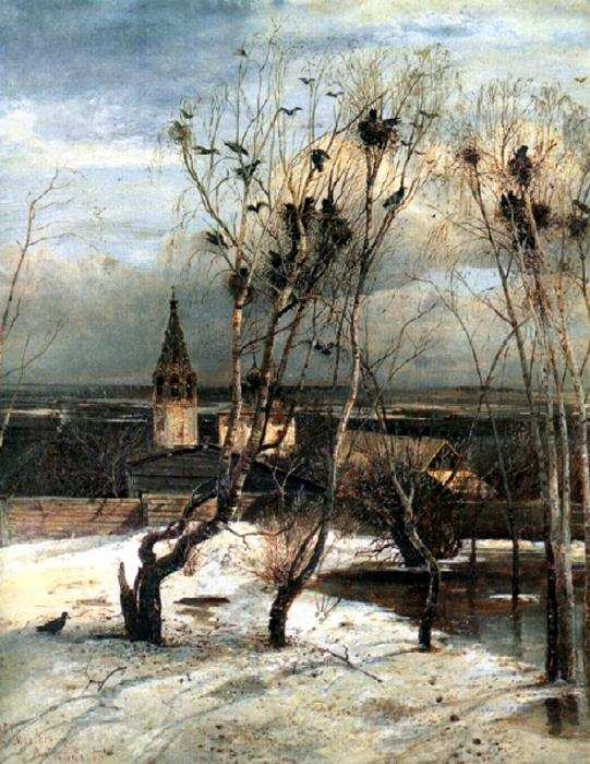 The rooks have returned, by Alexey Savrasov.
