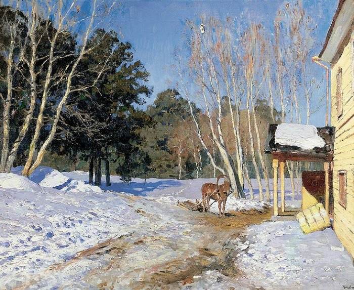 March, by Isaac Levitan.