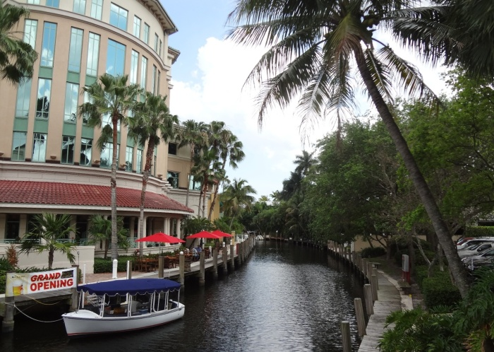 Restaurant on a small canal, Ft Lauderdale