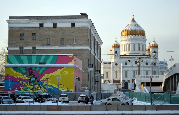 13 Cathedral of Christ the Savior and Moscow Street Art